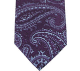Sean John Purple and Blue Paisley Silk Necktie