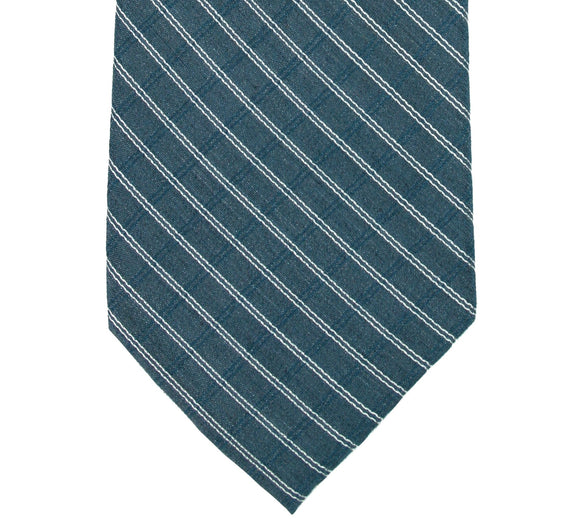 Calvin Klein Blue Windowpane Silk Blend Necktie