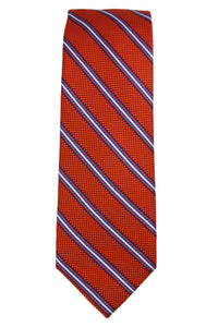 Haines & Bonner Orange and Blue Stripe Tie