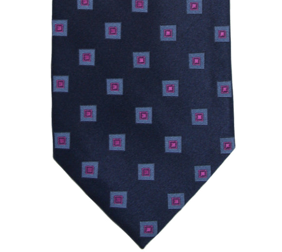 Michael Kors Navy Geometric Silk Tie