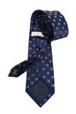 Michael Kors Navy Geometric Silk Neck Tie