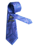 Ike Behar Purple and Blue Silk Paisley Tie