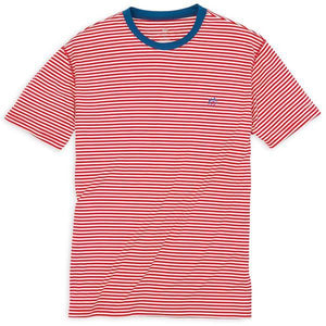 Southern Tide Liberty Stripe Performance T-Shirt - Varsity Red