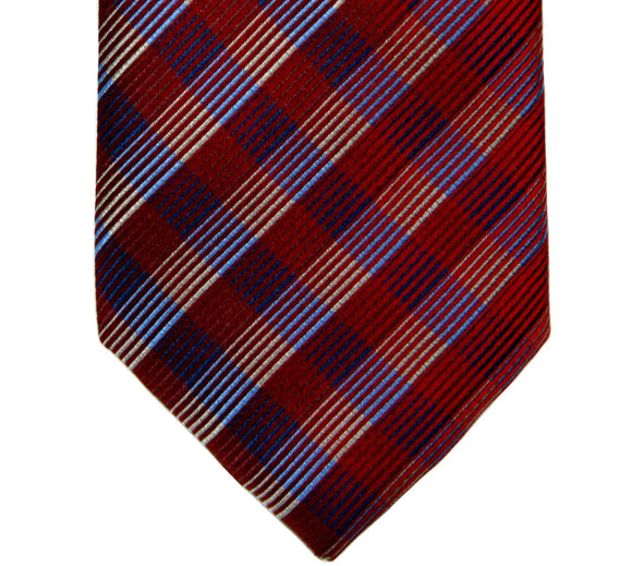 Perry Ellis Silk Red Plaid Tie
