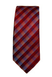 Perry Ellis Silk Red Plaid Necktie