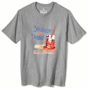 Tommy Bahama Bourbon of Proof Short-Sleeve Graphic Tee - Grey Heather