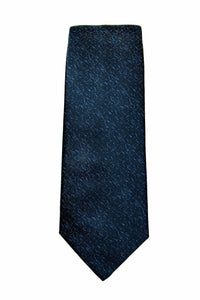Yves Saint Laurent Blue Tonal Silk Tie