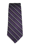 Brooks Brothers Purple Stripe Silk Necktie