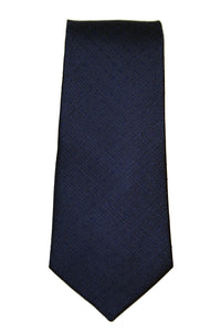 Calvin Klein Navy Solid Textured Dot Silk Necktie