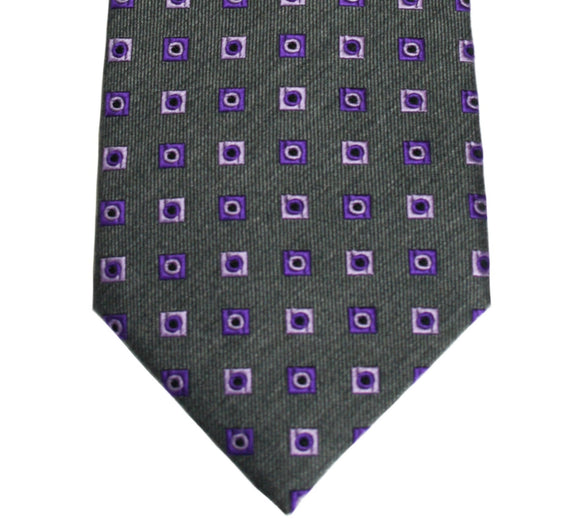 Countess Mara Gray Dotted Box Necktie