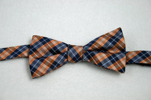 Countess Mara Navy/Orange Plaid