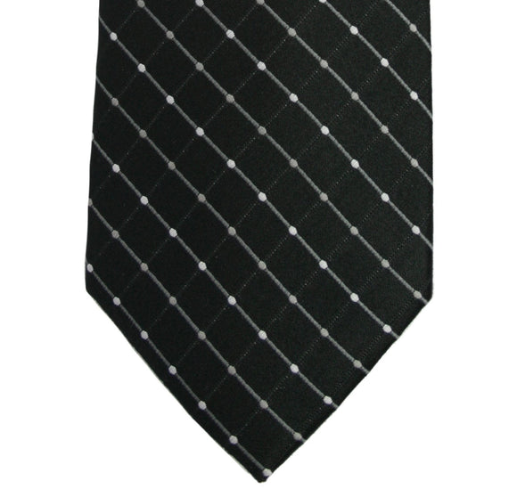 Geoffrey Beene Black City Grid Necktie