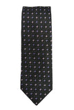 Hugo Boss Black Floral Grid Silk Necktie