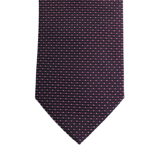 Hugo Boss Burgundy Micro Dotted Silk Necktie