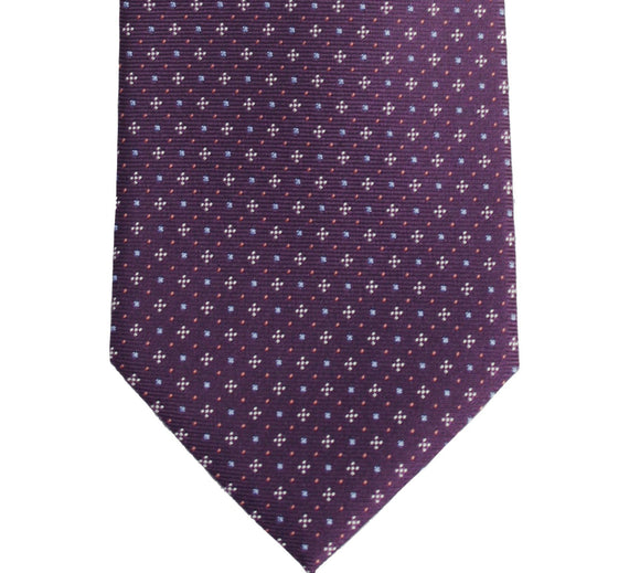 Hugo Boss Geometric Micro Dot Purple Silk Necktie