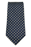 IZOD Navy and Gold Geometric Silk Neck Tie