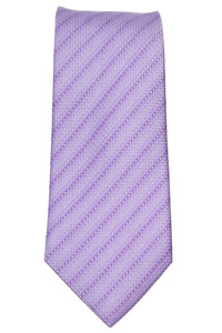 Kenneth Cole Lavender Tonal Striped Silk Tie