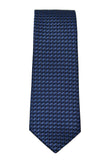 Kenneth Cole Tonal Navy Geometric Silk Necktie