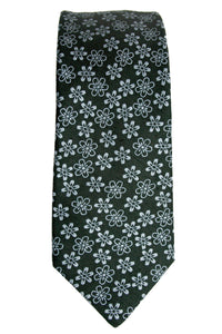 Michael Kors Silk and Linen Blend Daisy Tie