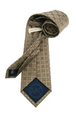 Michael Kors Gold Geometric Silk Tie