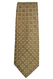 Michael Kors Gold Geometric Silk Necktie