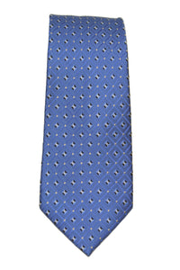 Nautica Blue Boxed Geometric Silk Tie