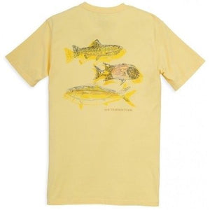 Southern Tide Triple Haul Series Signature T-Shirt - Sunshine
