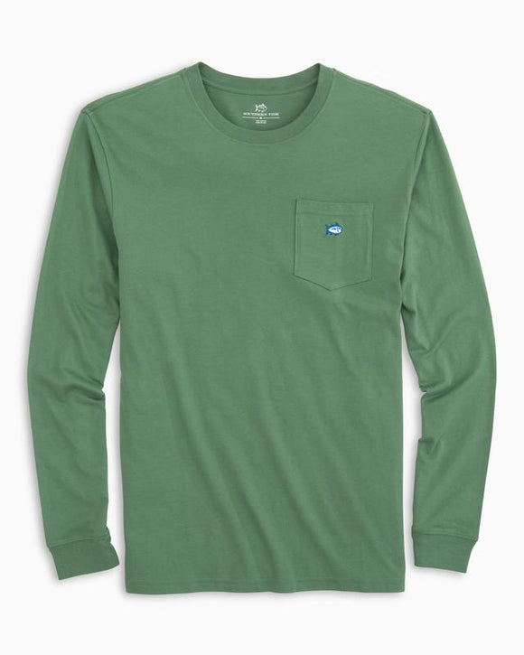 Southern Tide Long Sleeve Embroidered Pocket T-Shirt - Myrtle