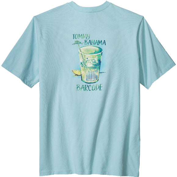 Tommy Bahama Bar Code Tee - Opal Blue