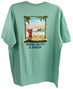 Tommy Bahama Room with a Brew T-Shirt - Dusty Aruba