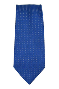 Tommy Hilfiger Blue Micro-Dot Satin Silk Tie