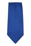 Tommy Hilfiger Blue Micro-Dot Satin Silk Necktie