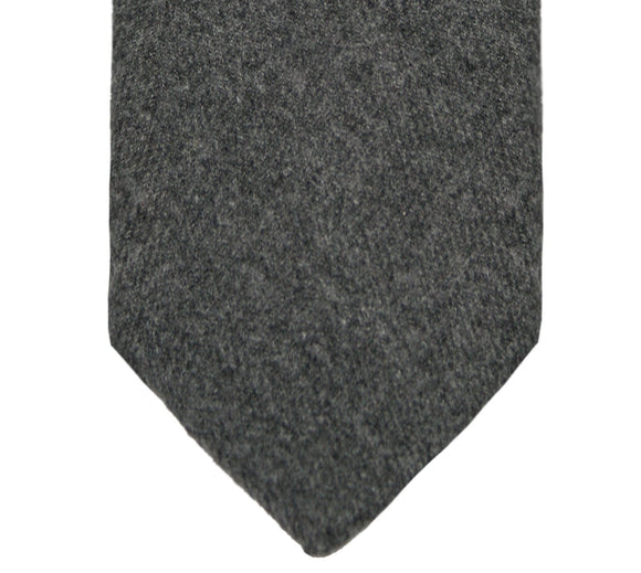 Tommy Hilfiger Solid Gray Wool Blend Tie