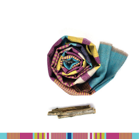 Valley of the Flowers Pashmina Wool Scarf