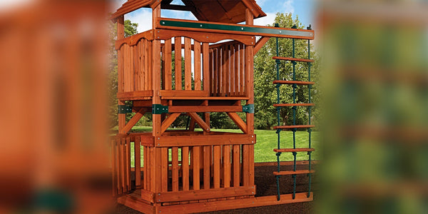 Accessory Arm With Rope Ladder For Swing Sets Backyard Discovery
