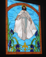 Stained Glass Window Philmont LDS Chapel
