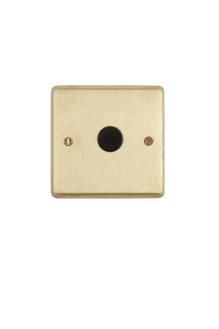 Brushed Brass 1-gang 2-way Dimmer Switch - Black