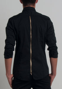 "MENEZ™ MEN""S BUTTON UP SHIRT WITH A ZIPPER SPINE - MENEZ"