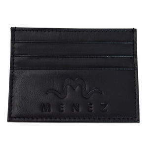 MENEZ™ BLACK LEATHER CARD HOLDER - MENEZ