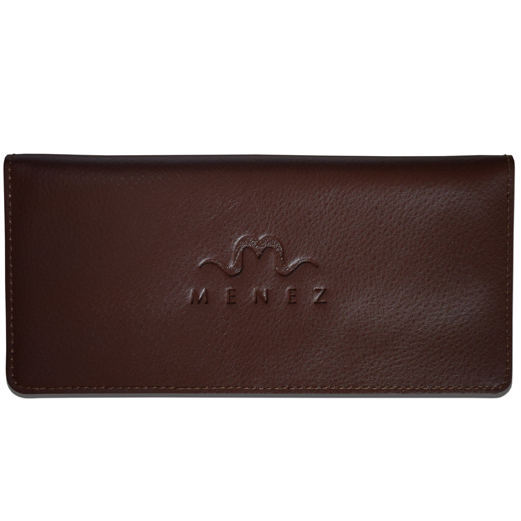 MENEZ™ LUCY BROWN LEATHER WALLET - MENEZ
