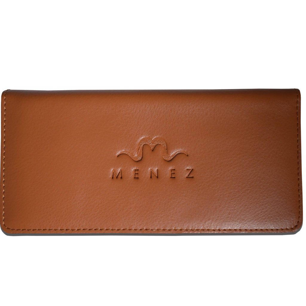 MENEZ™ LUCY HONEY BROWN LEATHER WALLET - MENEZ