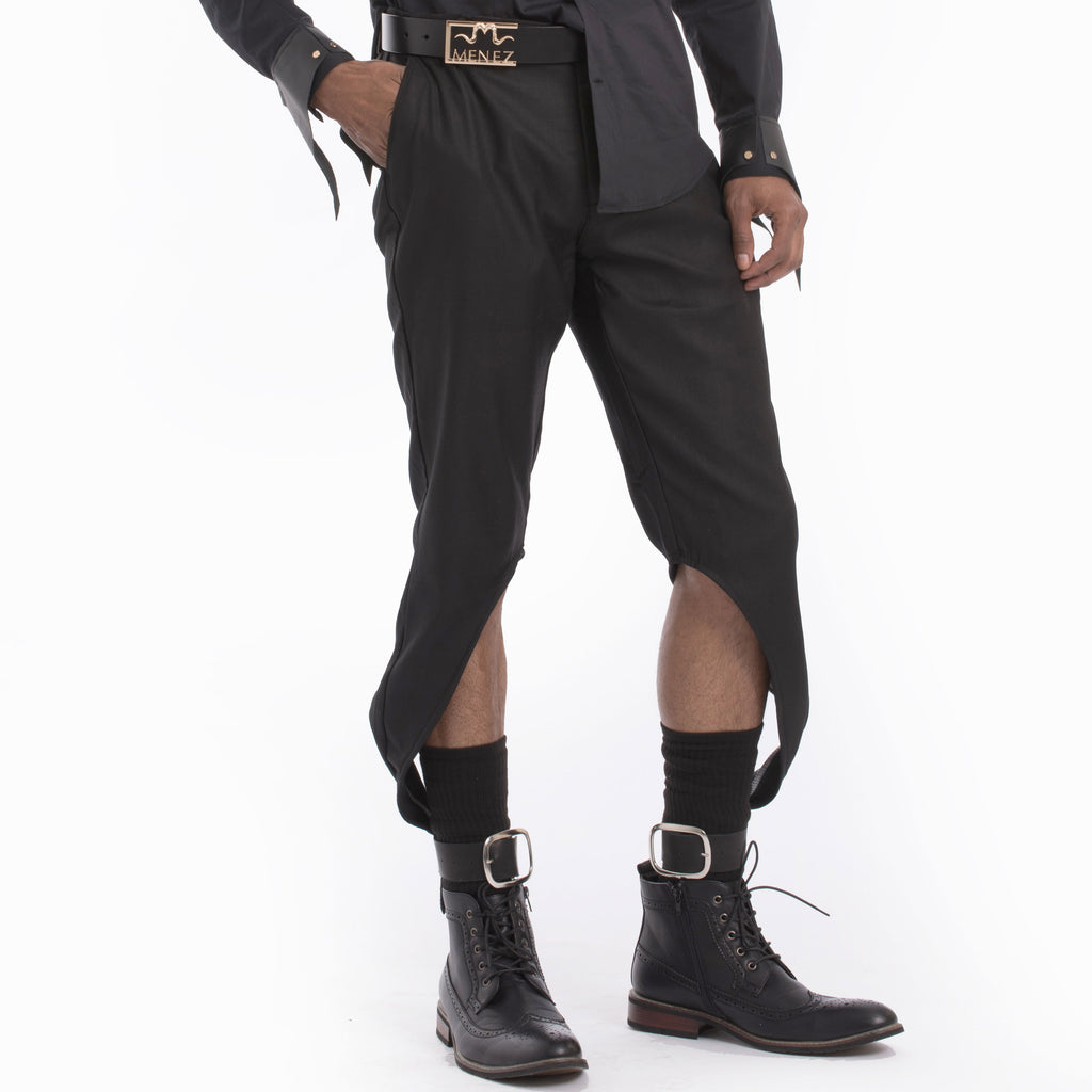 The MENEZ Zelus Leather Cuff Pants - MENEZ