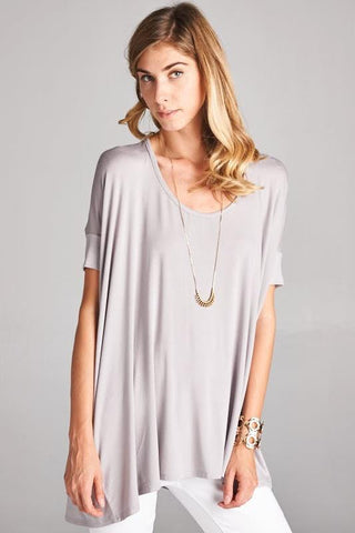 Loose Fit Round Neck Top