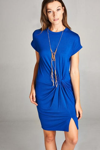 Front Slit Knot Dress
