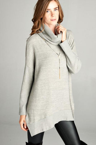 Turtle Neck Poncho Sweater Top