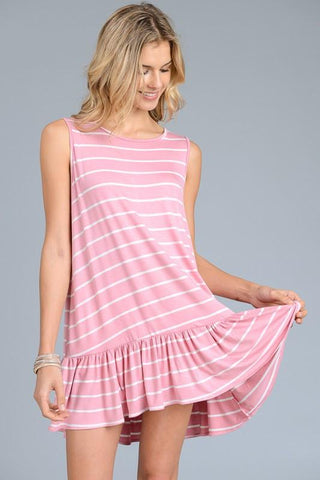 Sleeveless Tunic Ruffled Top