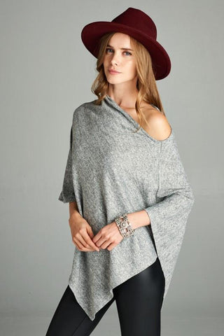 Off Shoulder Poncho Top
