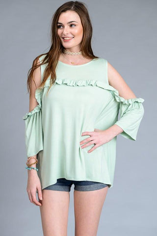 Short Sleeve V-Neck High Low Top