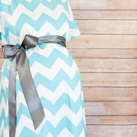 Aqua Chevron - Maternity Hospital Delivery Bundle