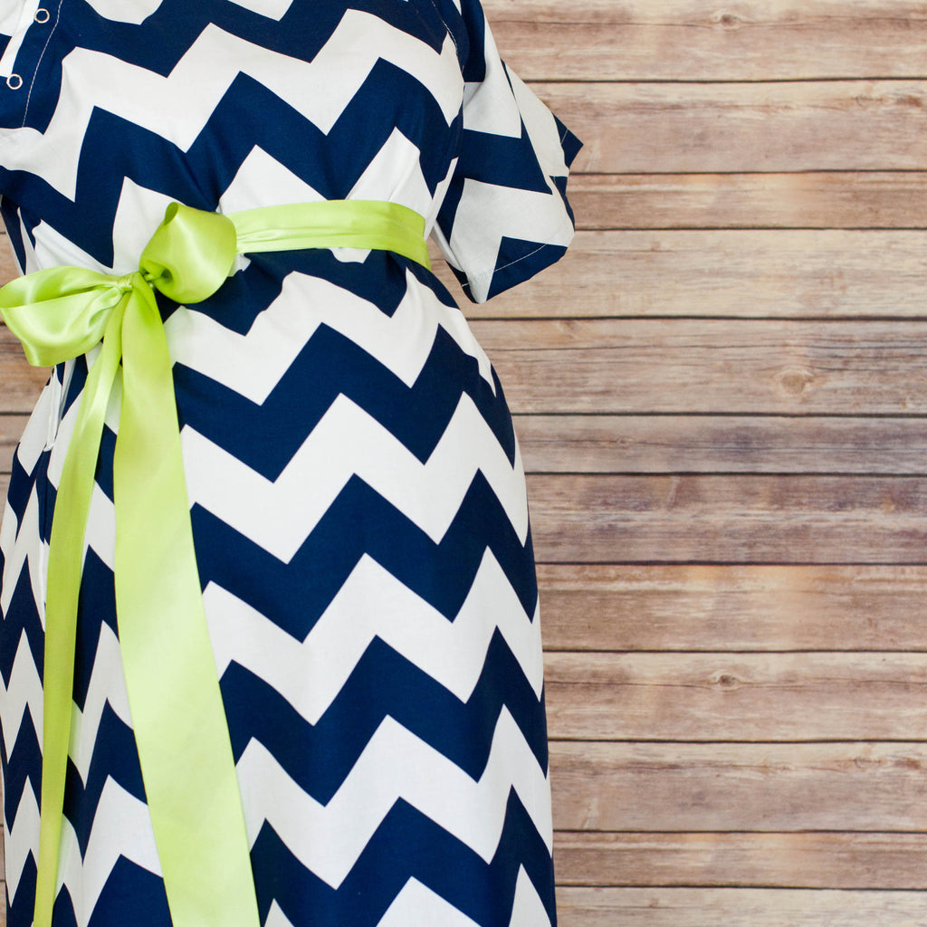 Navy Chevron - Maternity Hospital Delivery Bundle
